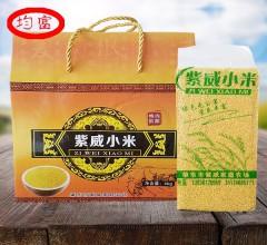 均富 紫威小米 礼盒 (1000gx4块)