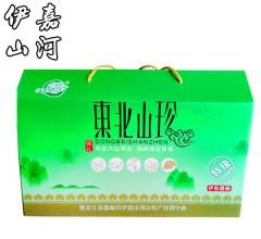 伊嘉山河东北山珍礼盒(榛蘑,元蘑,猴头,木耳) 1kg
