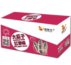 招财鸟 休闲零食炒货精选大瓜子红枣味(礼盒) 15包/盒
