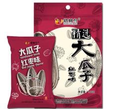 招财鸟 休闲零食炒货精选大瓜子红枣味