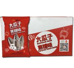 招财鸟 休闲零食炒货精选大瓜子焦糖味(礼盒) 15包/盒