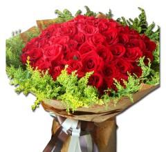 红玫瑰一束