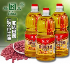 绿垦 红衣花生油1.8L/5L 食用油