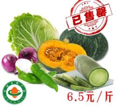 李山 有机蔬菜【辣椒,小南瓜,水果萝卜,圆葱、大白菜】共10斤