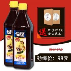 绿垦 黑豆油1L(买两瓶赠一盒价值39.9元蒲公英荼)