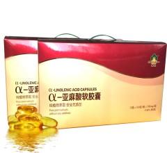 α -亚麻酸软胶囊 700mg/粒X100粒/瓶X12瓶