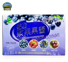 内蒙古大兴安岭白鹿岛野生浆果果酱美味可口4种口味礼盒装 包邮 200gX6瓶