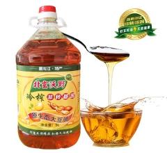 非转基因冷榨大豆油  5L