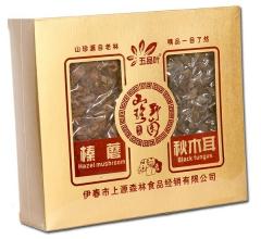 东北野生山产品礼盒(榛蘑+秋木耳)真空  400g/盒