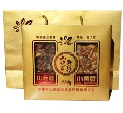 东北野生山产品礼盒(黄蘑+元蘑)真空 400g/盒