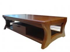 家用茶几  时尚简约现代 长形带抽屉茶几  纯实木制造家具茶几