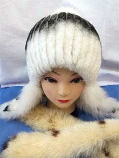 黑白相间女士毛帽子
