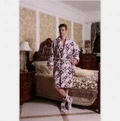 男款法兰绒浴袍FBM1001 定做:起订量800件