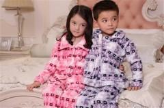 儿童款法兰绒连体衣/睡衣FK1000  定做:起订量800件