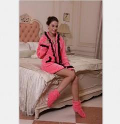 女款法兰绒睡裙FPW1002 定做:起订量800件