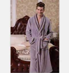 男款法兰绒浴袍FBM1002  定做:起订量800件