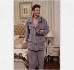 男款法兰绒睡衣FPM1001 定做:起订量800件