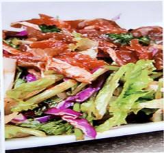蔬菜拌肉 18元/盘