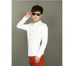 男士白色衬衫
