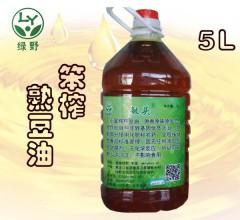 豆油 笨炸熟豆油  5L