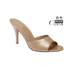 2015夏季新款韩版潮高跟鞋细跟性感凉鞋露趾一字型凉拖女拖鞋