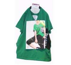 女款休闲短袖(绿色)