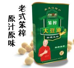 北方壹品  黑龙江特产 非转基因 物理压榨 笨榨大豆油 铁盒 1L