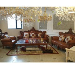 2木艺居 进口印尼柚木沙发组合 1+2+3+茶几
