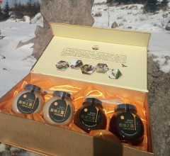 巅蜂之露43波美度礼盒1920g(2瓶椴树蜜,2瓶百花蜜)