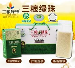 三粮绿珠东北五常大米生态稻花香米5kg(5盒x1kg)