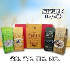 精致纯面粉(全麦、黑米、荞麦、玉米) 1kgx4袋