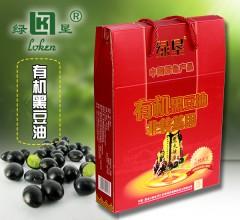 绿垦 有机黑豆油 500MLx2瓶/箱 食用油