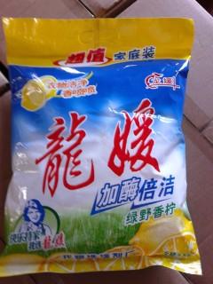 洗衣粉7元/1袋 42元/1箱(6袋)