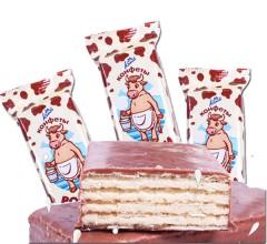俄罗斯进口畅销威化  35元/kg俄罗斯进口零食巧克力夹心威化饼干