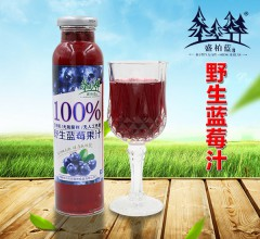 盛柏蓝 无香精无防腐剂无人工色素野生蓝莓汁  300ml*10瓶/箱