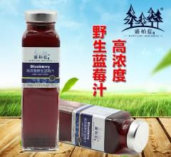 盛柏蓝 无香精无色素无防腐剂高浓度野生蓝莓汁 420ml*6瓶/箱